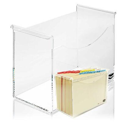 <p>Besteht aus transparentem, dickwandigem Acrylglas</p><p>Attraktives Accessoire für den Schreibtisch. Mit einer Fülltiefe von 150 mm (normale Box: 95 mm) fasst sie wesentlich mehr Orga-Mappen. So haben Sie alle aktuellen Vorgänge immer im Blick ...