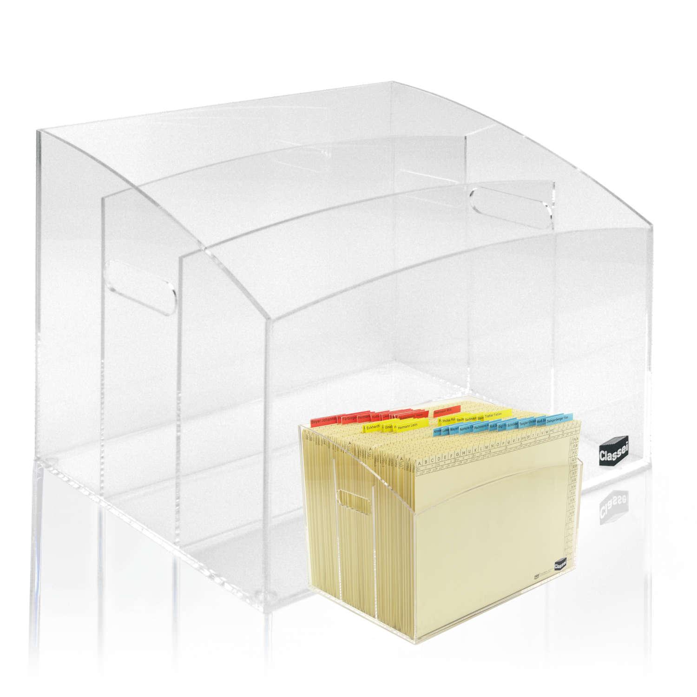 <p>Attraktive Ordnungsbox für Ihren Schreibtisch oder Sideboard. Mit 3 unterteilten Fächer mit je 70 mm und einer Tiefe von 226 mm werden Ihre Projekte perfekt gegliedert. So haben Sie alle Vorgänge immer im Überblick.</p><p><strong>Farbe:</stron ...