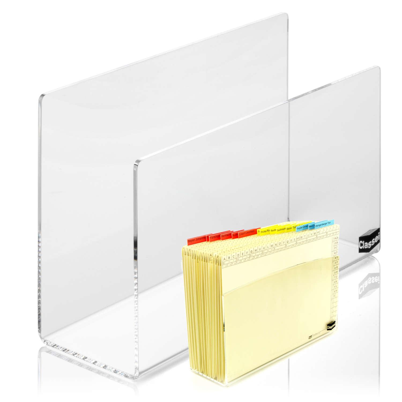 <p>Besteht aus transparentem, dickwandigem Acrylglas</p><p>Attraktives Accessoire für den Schreibtisch. Im Gegensatz zur Acryl -Box ist der Acryl -Ständer seitlich offen. Darin können lateral bereiterte Orga-Mappen eingestellt werden. So haben Si ...